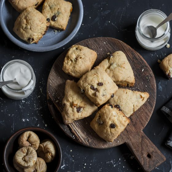 Fig and Pear Scones