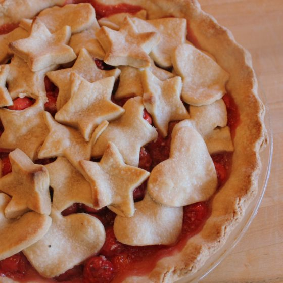 Fourth of July Cherry Pie