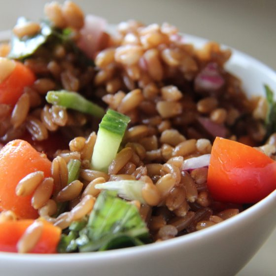 Emmer Farro Salad with Fresh Garden Vegetables