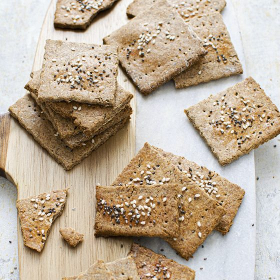 Rye Crackers with Caraway