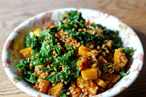Einka Salad with Tuscan Kale & Butternut Squash