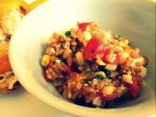Farro Salad with Corn, Tomatoes and Feta