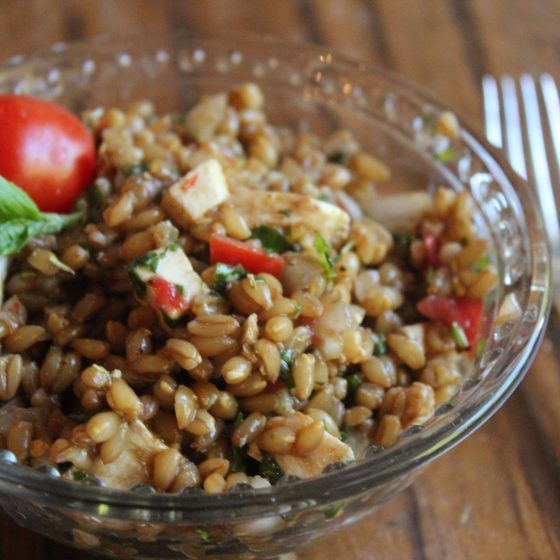 Chilled Emmer Farro Caprese Salad