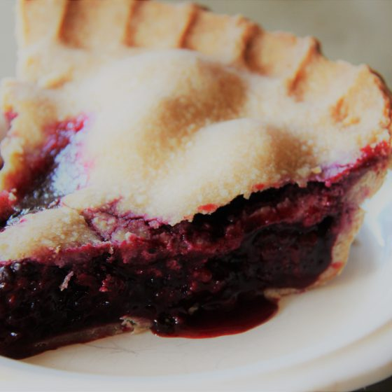 Blackberry Pie with Ancient Grain Crust