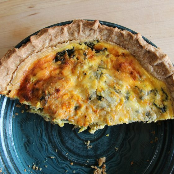 Methow Spring Quiche with Einkorn Crust