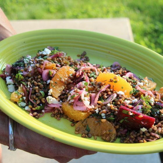 Einka and French Lentils with Oranges and Roasted Beets